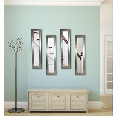 Rayne Mirrors Molly Dawn Rayne Silver Rounded Mirror Panels Set of 4; 14 X 28