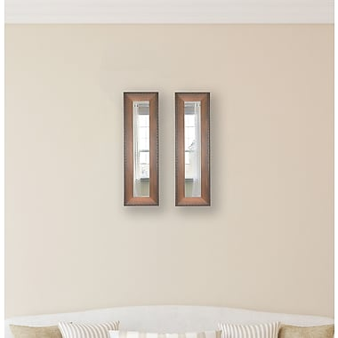 Rayne Mirrors Molly Dawn Timber Estate Mirror Panels (Set of 2); 29.5'' H x 15.5'' W x 0.75'' D