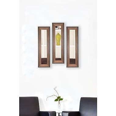 Rayne Mirrors Molly Dawn Timber Estate Mirror Panels (Set of 3); 35.5'' H x 9.5'' W x 0.75'' D