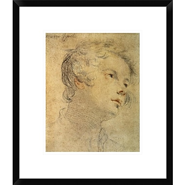 Global Gallery Head of a Youth by Mateo Rosselli Framed Painting Print; 20'' H x 17'' W x 1.5'' D
