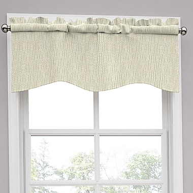 Traditions by Waverly Strands 52'' Curtain Valance; Birch