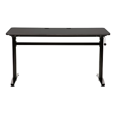 KMS Cool Living 27.5'' Rectangular Standing Training Table, Black (CL-ALUMSUB)