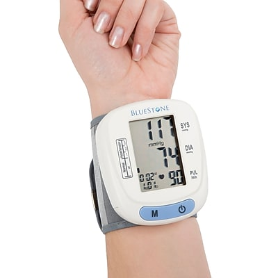 Bluestone Automatic Wrist Blood Pressure Monitor w 120 Memory