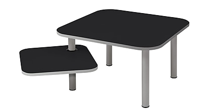 ALBA Aluminum Coffee Table, Black, Each (TBZOE1N)