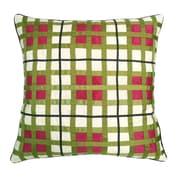 Edie Inc. Belgravia Plaid Throw Pillow; White / Fuchsia / Lime