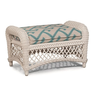 ElanaMar Designs Savannah Ottoman w/ Cushion; Antique Beige