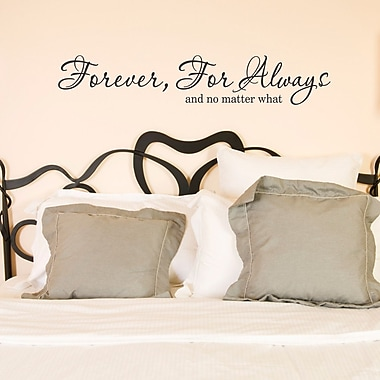 Belvedere Designs LLC Forever, For Always Wall Quotes Decal