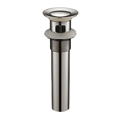 Kraus 2.5'' Pop Up Bathroom Sink Drain w/ Overflow; Brushed Nickel