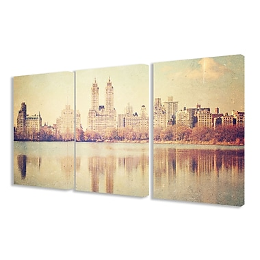 Stupell Industries Central Park Overlook 3 Piece Photographic Print Canvas Set