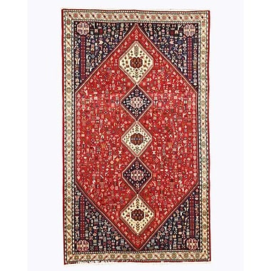 Eastern Rugs Abadeh Hand-Knotted Red Area Rug