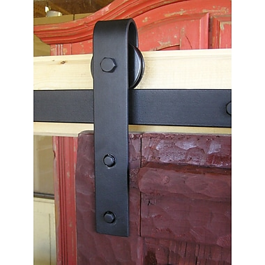Agave Ironworks Barn Door Rolling Hardware Kit; Faux Stainless