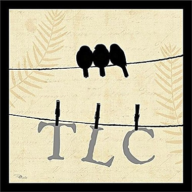 Buy Art For Less Sweet Tweets TLC Birds on a Wire Framed Graphic Art