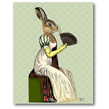 Courtside Market 'Miss Hare' Painting Print on Wrapped Canvas