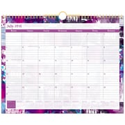 Staples® – Calendrier mural, 15 po x 12 po, grillage abstrait, anglais