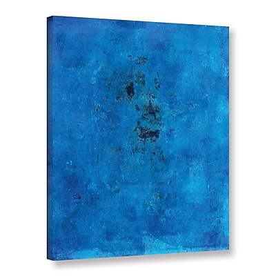 ArtWall Blue Grunge by Elena Ray Painting Print on Wrapped Canvas; 18'' H x 14'' W WYF078278525413