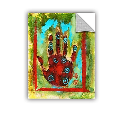 ArtWall Buddhist Palm by Elena Ray Removable Painting Print; 24'' H x 32'' W