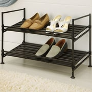 OIA 2-Tier 6 Pair Shoe Rack