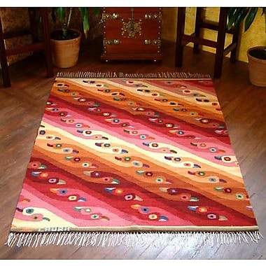 Novica Royal Flamingos Rug; 3'11'' x 5'2''