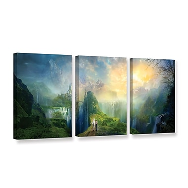ArtWall Road To Oalovah by Philip Straub 3 Piece Graphic Art on Wrapped Canvas Set; 36'' H x 72'' W
