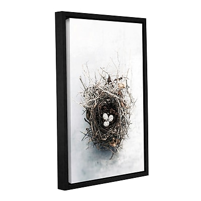 ArtWall Bird Nest by Elena Ray Framed Photographic Print on Wrapped Canvas; 18'' H x 12'' W WYF078278524064