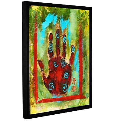 ArtWall Buddhist Palm by Elena Ray Framed Painting Print on Wrapped Canvas; 36'' H x 48'' W