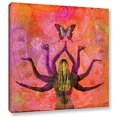 ArtWall Celestial Goddess by Elena Ray Graphic Art on Wrapped Canvas; 18'' H x 18'' W