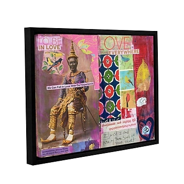 ArtWall Art Journal Love Is by Elena Ray Framed Graphic Art on Wrapped Canvas; 14'' H x 18'' W