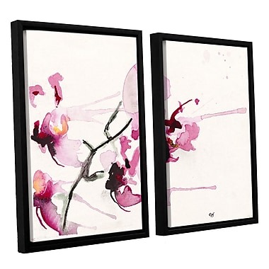 ArtWall 'Orchids lii' by Karin Johannesson 2 Piece Framed Painting Print on Canvas Set
