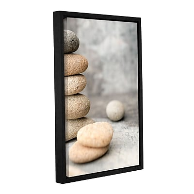 ArtWall Still Life River Stones by Elena Ray Framed Photographic Print on Wrapped Canvas