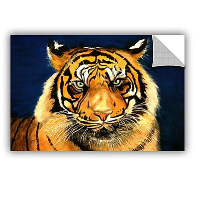ArtWall Tiger By Lins by Lindsey Janich Removable Painting Print; 32'' H x 48'' W