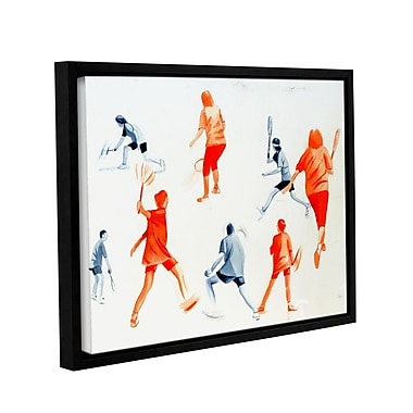 ArtWall Swuahs Players by Lindsey Janich Framed Painting Print on Wrapped Canvas; 18'' H x 24'' W