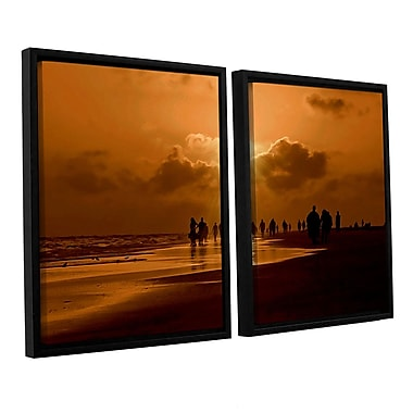 ArtWall Sunart1B byLindsey Janich 2 Piece Framed Photographic Print on Canvas Set; 24'' H x 36'' W