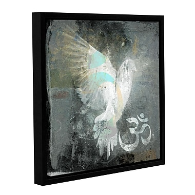 ArtWall Om Dove by Elena Ray Framed Painting Print on Wrapped Canvas; 18'' H x 18'' W
