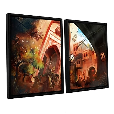 ArtWall Old Times 1 by Luis Peres 2 Piece Framed Graphic Art on Canvas Set; 24'' H x 36'' W