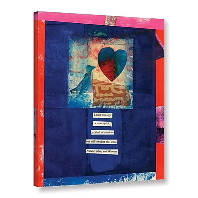 ArtWall Bird, Heart, Love by Elena Ray Graphic Art on Wrapped Canvas; 48'' H x 36'' W