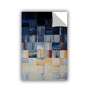 ArtWall Gray Squares by Shiela Gosselin Painting Print; 24'' H x 16'' W