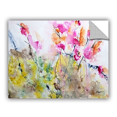 ArtWall Summer Pink by Karin Johannesson Removable Painting Print; 24'' H x 32'' W
