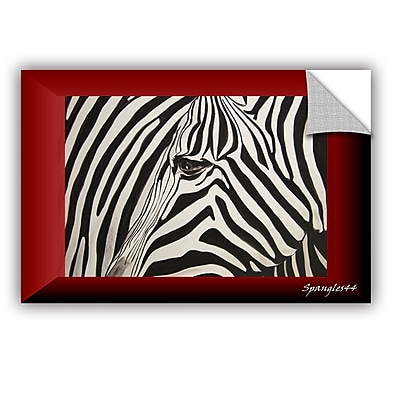 ArtWall Zebras Abstract by Lindsey Janich Removable Painting Print; 24'' H x 36'' W