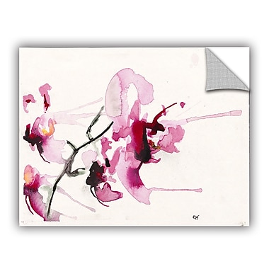 ArtWall Orchids Iii by Karin Johannesson Removable Painting Print; 18'' H x 24'' W