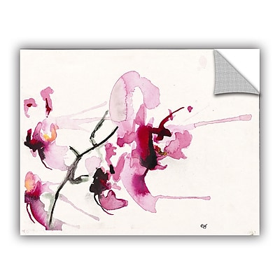 ArtWall Orchids Iii by Karin Johannesson Removable Painting Print; 24'' H x 32'' W