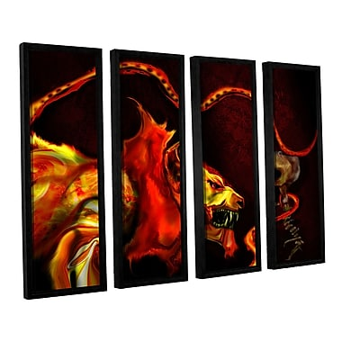 ArtWall Shadow Of The Beast by Michael L Stewart 4 Piece Framed Graphic Art on Canvas Set