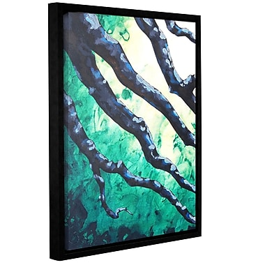 ArtWall Emerald by Shiela Gosselin Framed Painting Print on Wrapped Canvas; 32'' H x 24'' W