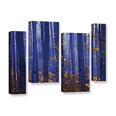 ArtWall Blue Forest by Lindsey Janich 4 Piece Photographic Print on Wrapped Canvas Set