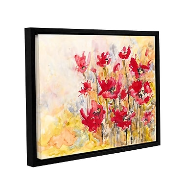 ArtWall Poppy Field by Karin Johannesson Framed Painting Print on Wrapped Canvas; 24'' H x 32'' W