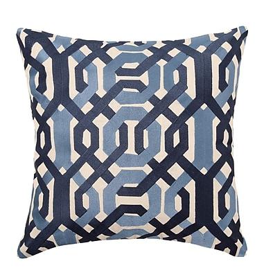 D.L. Rhein Galway Linen Throw Pillow; Blue