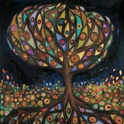 GreenBox Art 'Glass Tree' by Eli Halpin Painting Print on Wrapped Canvas; 39'' H x 39'' W x 1.5'' D