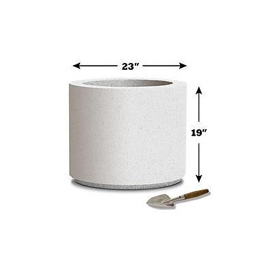 Poly-Stone Planters 100pct solid Polyurea Pot Planter; White
