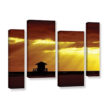 ArtWall Siesta Key by Lindsey Janich 4 Piece Photographic Print on Wrapped Canvas Staggered Set