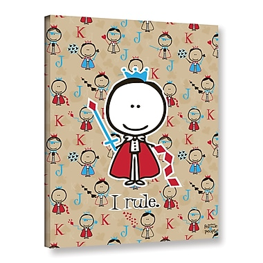 ArtWall I Rule by F(Felittle) Kamriana Graphic Art on Wrapped Canvas; 24'' H x 18'' W