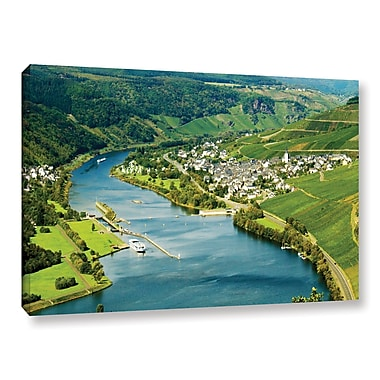 ArtWall Enkrich, Mosel River by Lindsey Janich Photographic Print on Wrapped Canvas; 12'' H x 18'' W